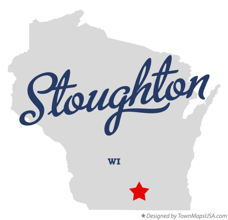 Map of Stoughton Wisconsin WI
