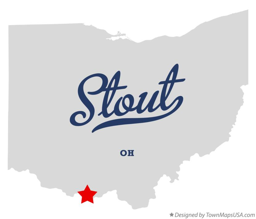Map of Stout Ohio OH