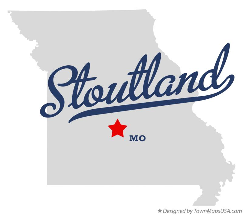 Map of Stoutland Missouri MO