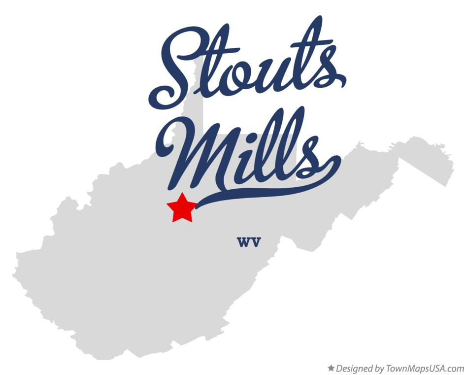 Map of Stouts Mills West Virginia WV