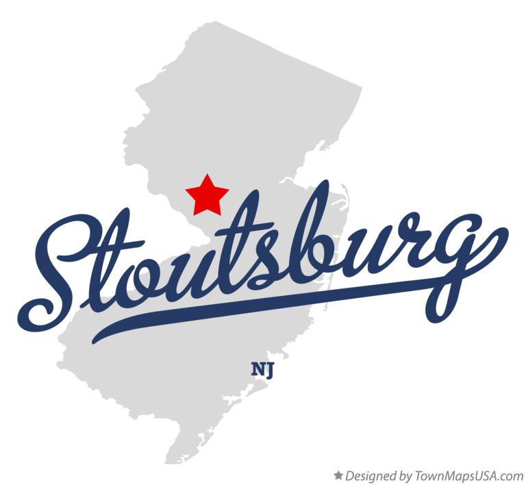 Map of Stoutsburg New Jersey NJ
