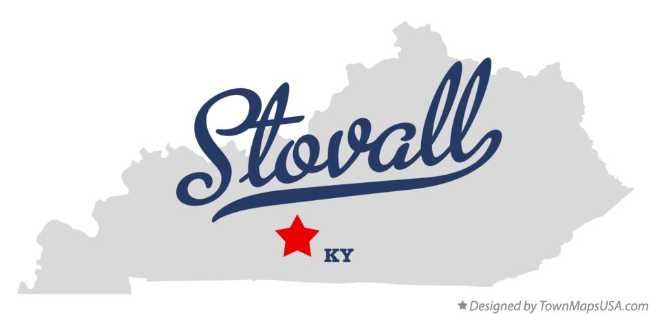 Map of Stovall Kentucky KY