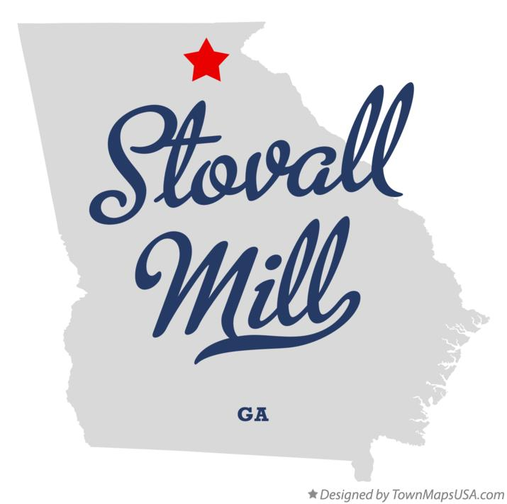 Map of Stovall Mill Georgia GA