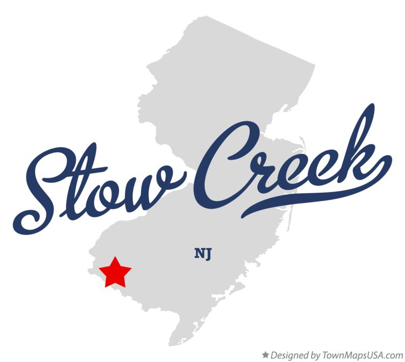 Map of Stow Creek New Jersey NJ