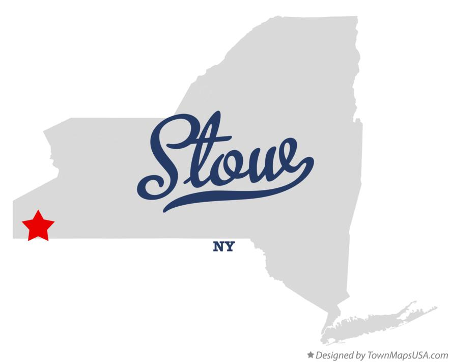 Map of Stow New York NY