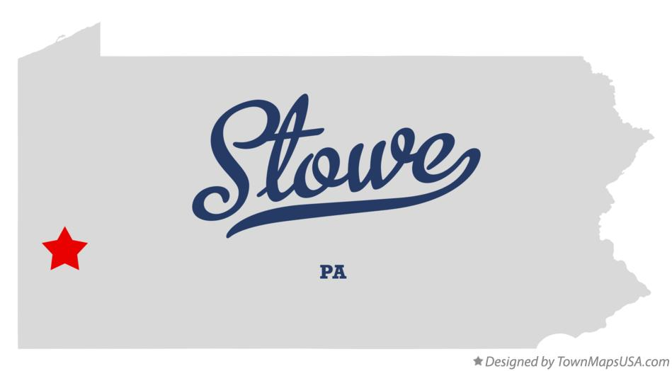 Map of Stowe Pennsylvania PA