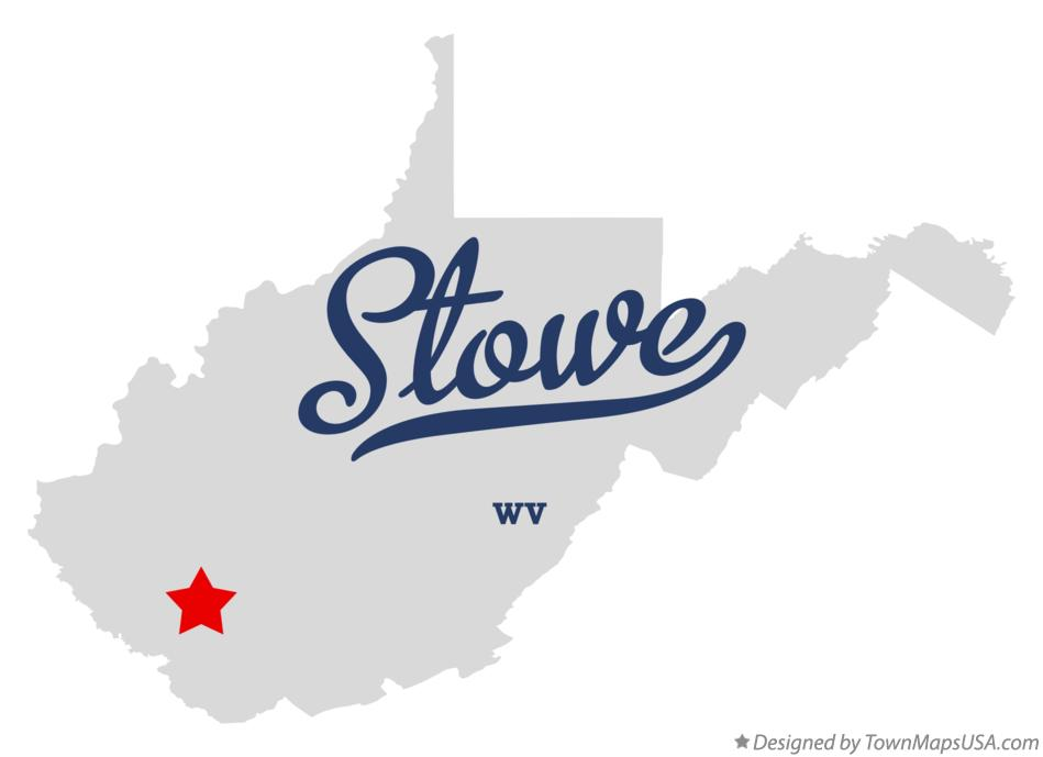 Map of Stowe West Virginia WV