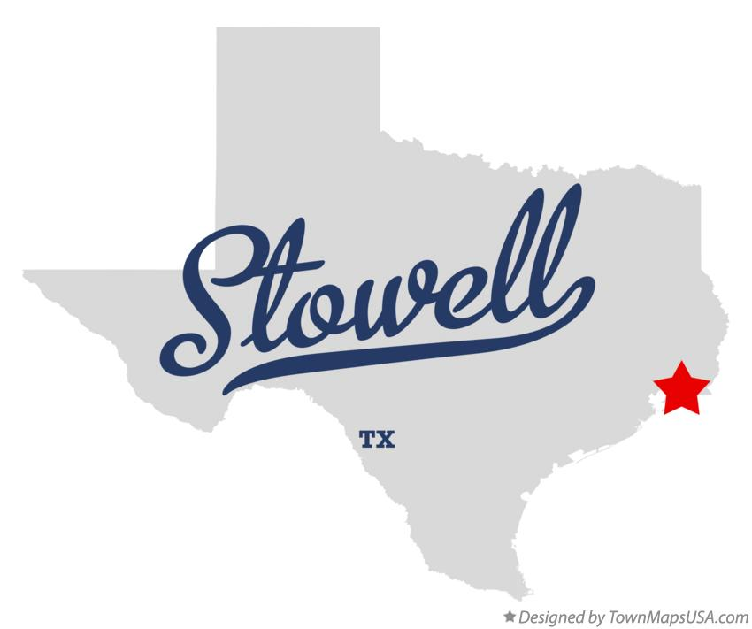 Map of Stowell Texas TX