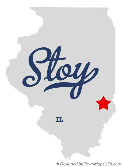 Map of Stoy Illinois IL