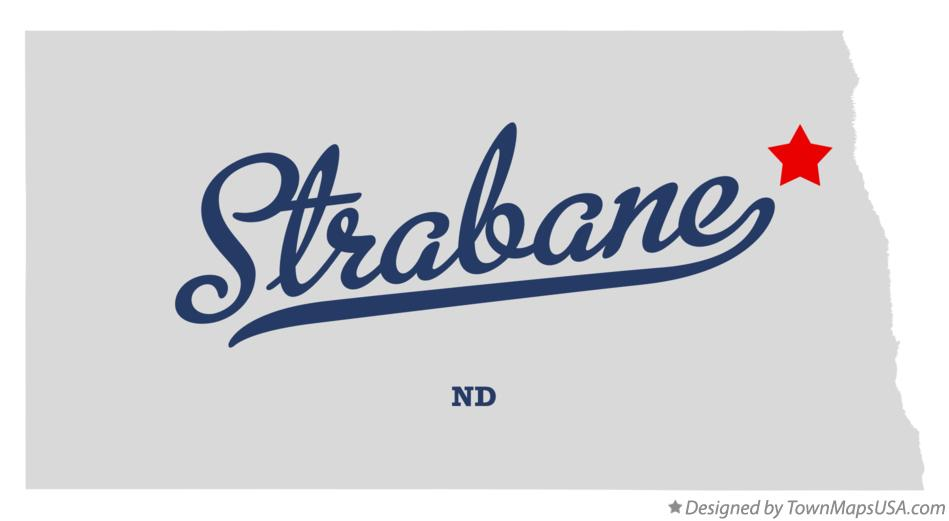 Map of Strabane North Dakota ND