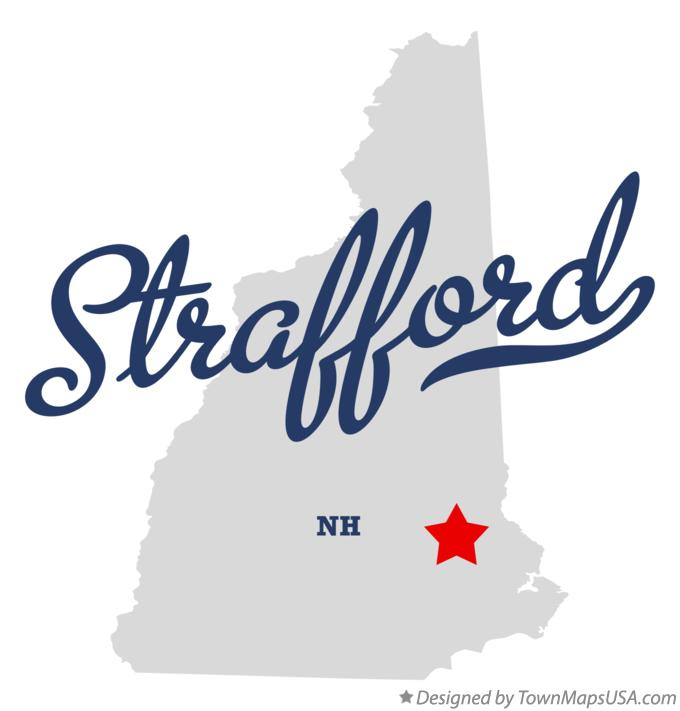 Map of Strafford New Hampshire NH