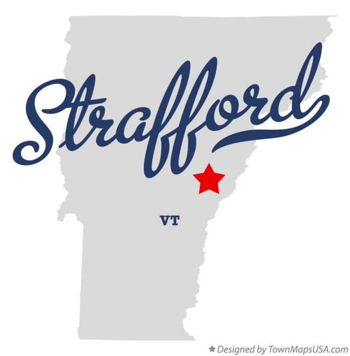Map of Strafford Vermont VT