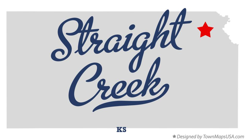 Map of Straight Creek Kansas KS