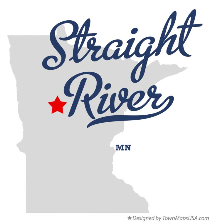 Map of Straight River Minnesota MN