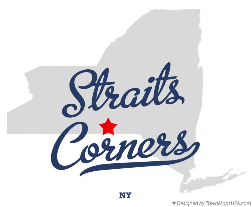 Map of Straits Corners New York NY