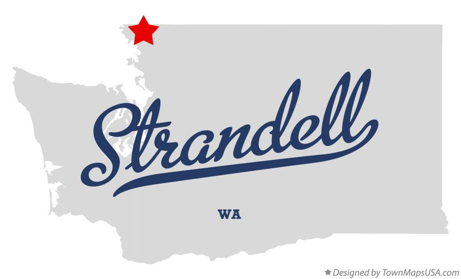Map of Strandell Washington WA