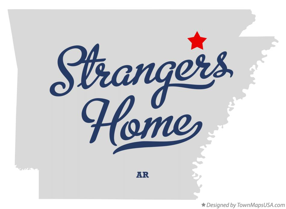 Map of Strangers Home Arkansas AR