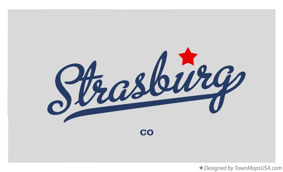 Map of Strasburg Colorado CO