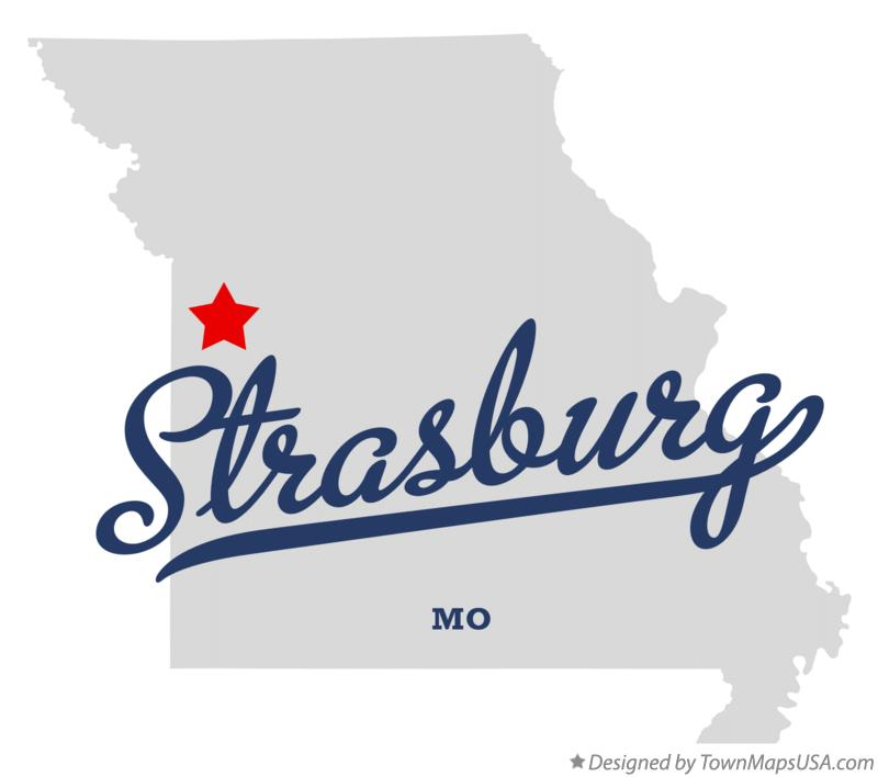 Map of Strasburg Missouri MO