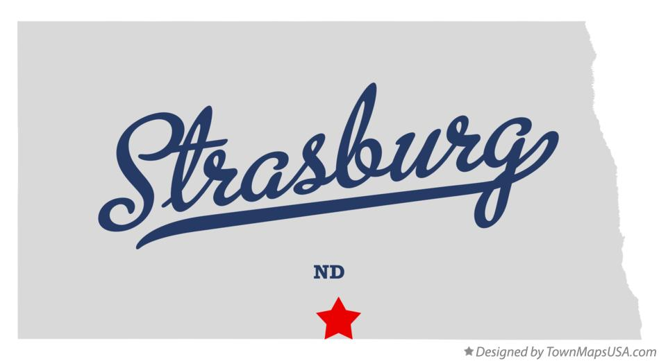 Map of Strasburg North Dakota ND