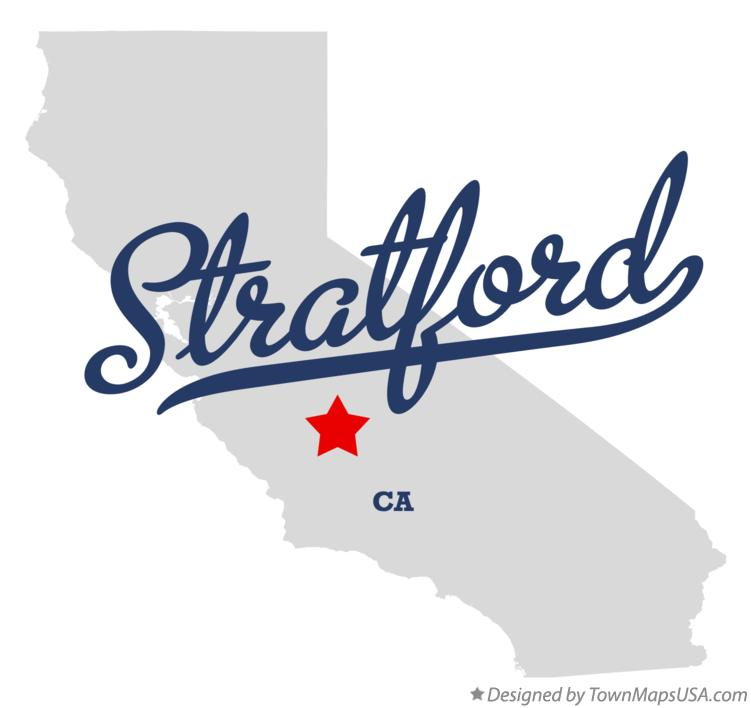 Map of Stratford California CA