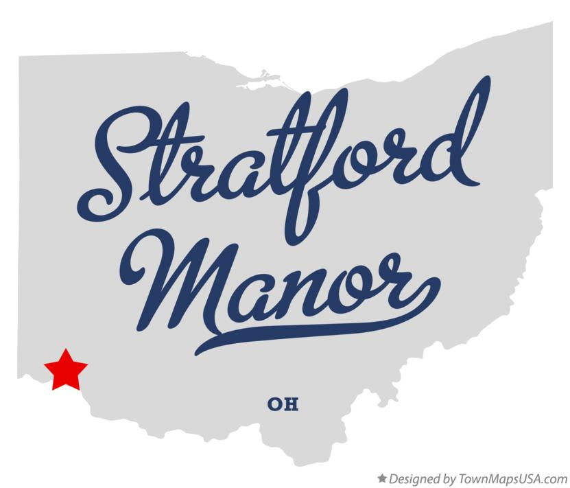 Map of Stratford Manor Ohio OH