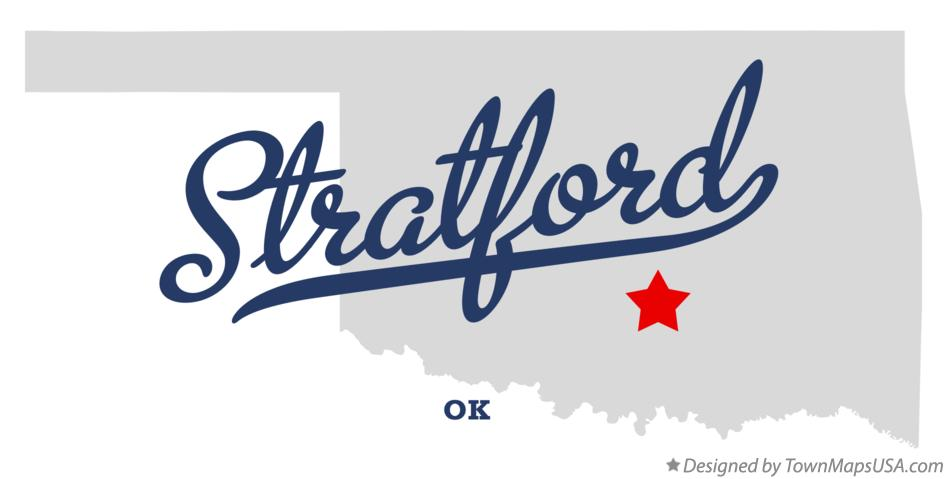 Map of Stratford Oklahoma OK