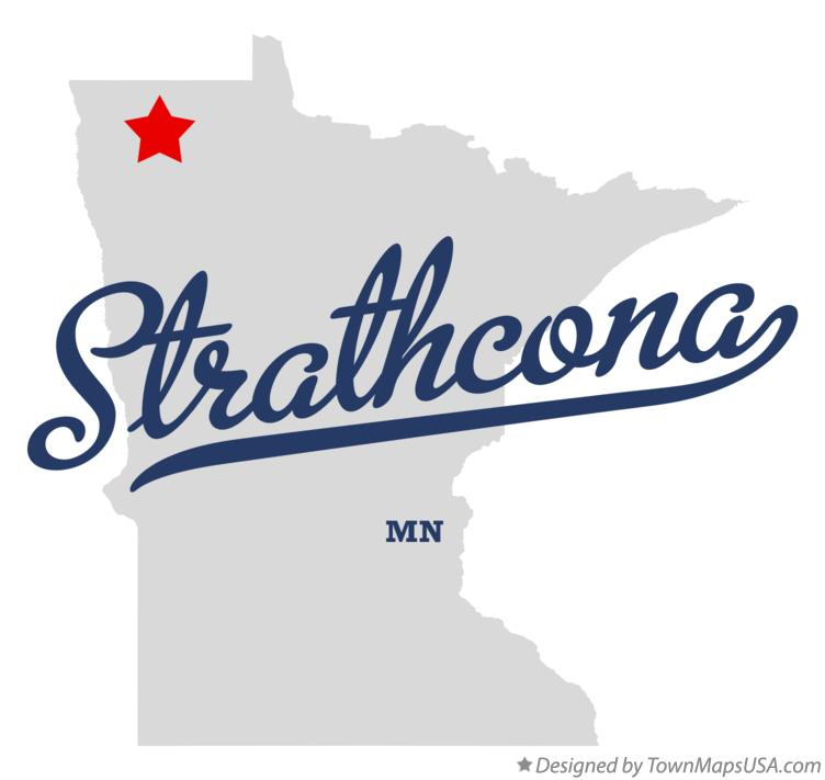 Map of Strathcona Minnesota MN
