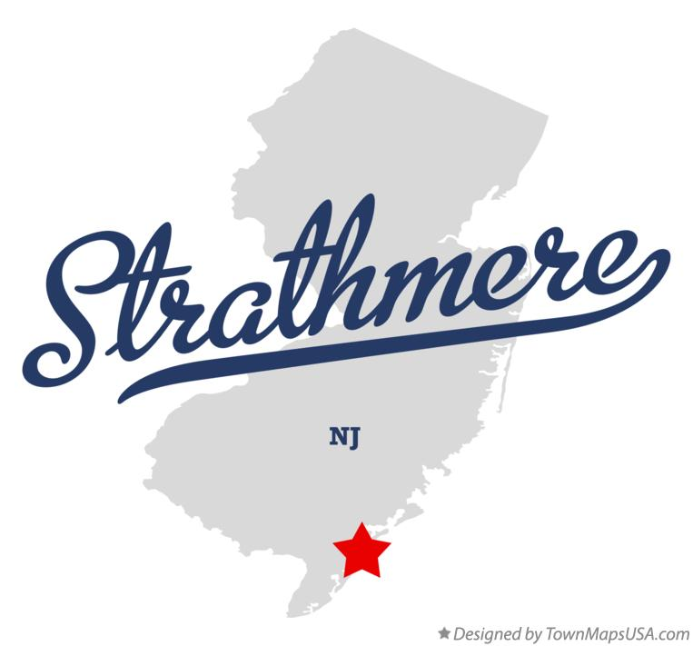 9032a4262 Map of Strathmere, NJ, New Jersey