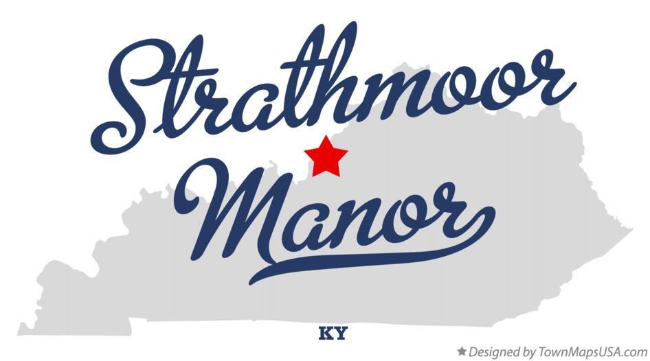 Map of Strathmoor Manor Kentucky KY
