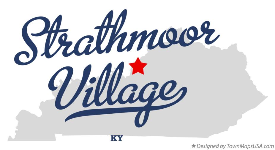 Map of Strathmoor Village Kentucky KY