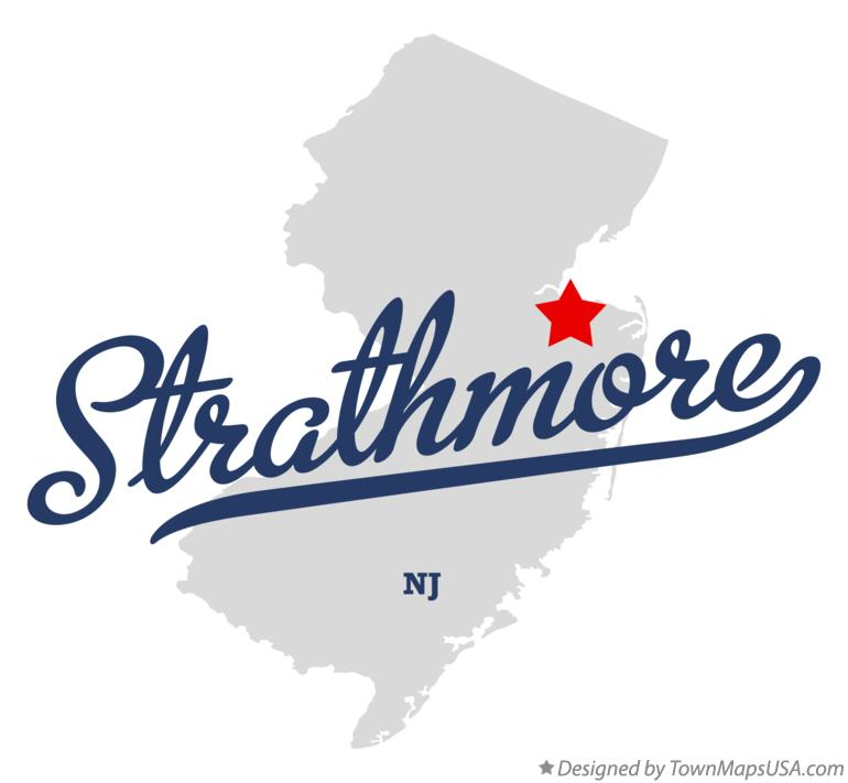 Map of Strathmore New Jersey NJ