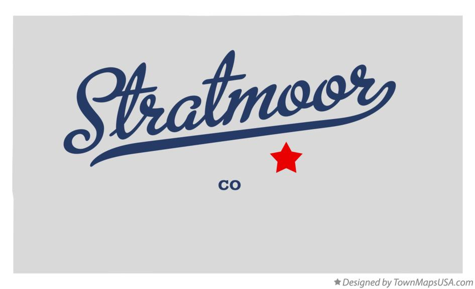 Map of Stratmoor Colorado CO