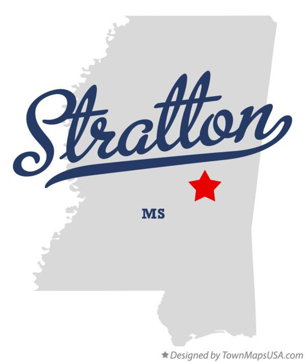 Map of Stratton Mississippi MS