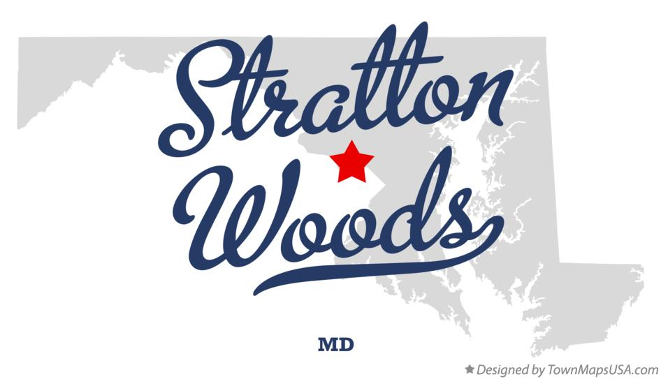 Map of Stratton Woods Maryland MD