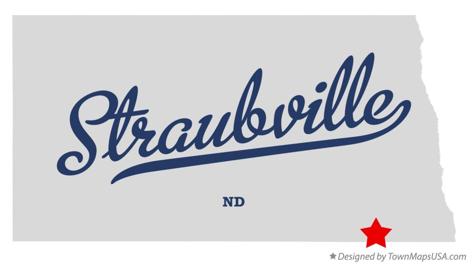 Map of Straubville North Dakota ND