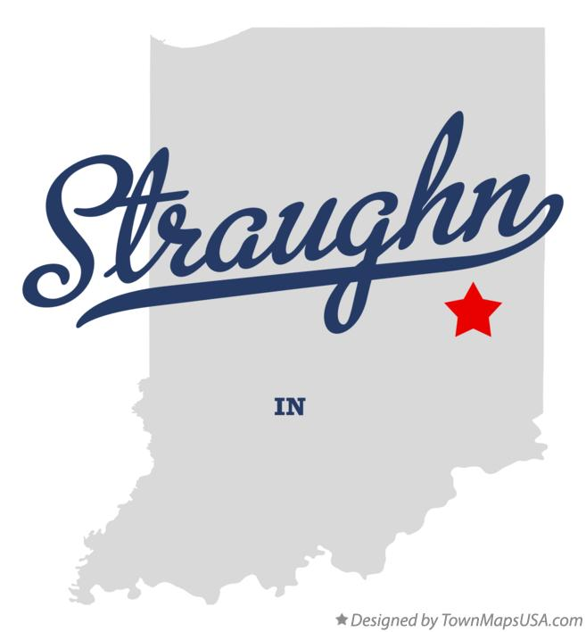 Map of Straughn Indiana IN