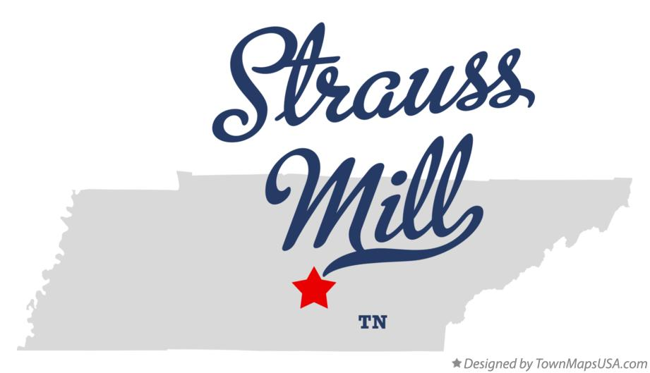Map of Strauss Mill Tennessee TN
