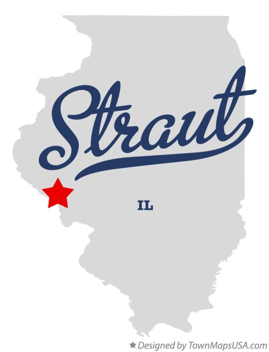 Map of Straut Illinois IL