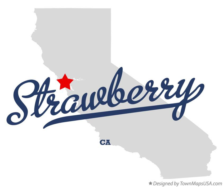 Map of Strawberry California CA