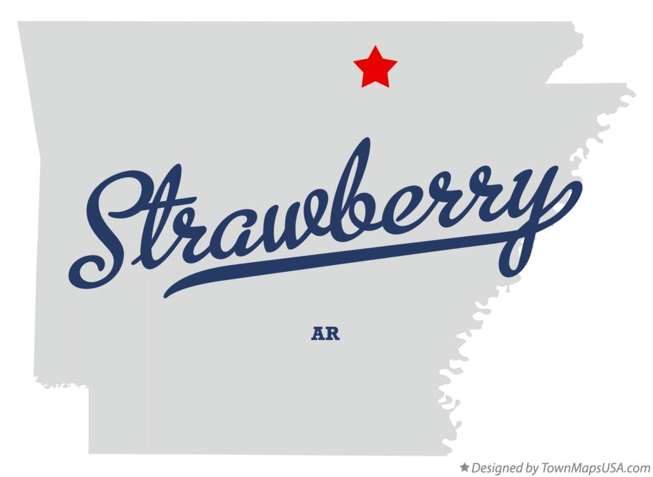 Map of Strawberry Arkansas AR