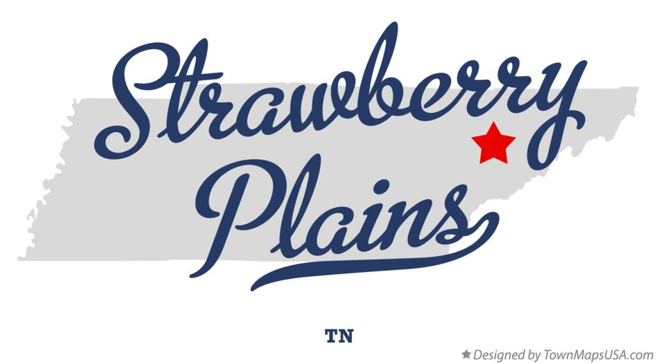 Map of Strawberry Plains Tennessee TN