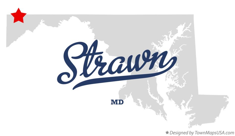 Map of Strawn Maryland MD
