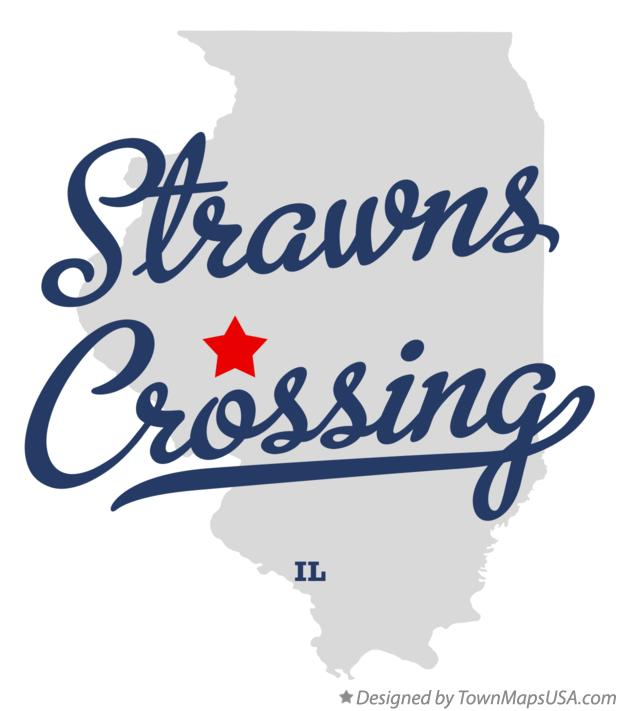 Map of Strawns Crossing Illinois IL