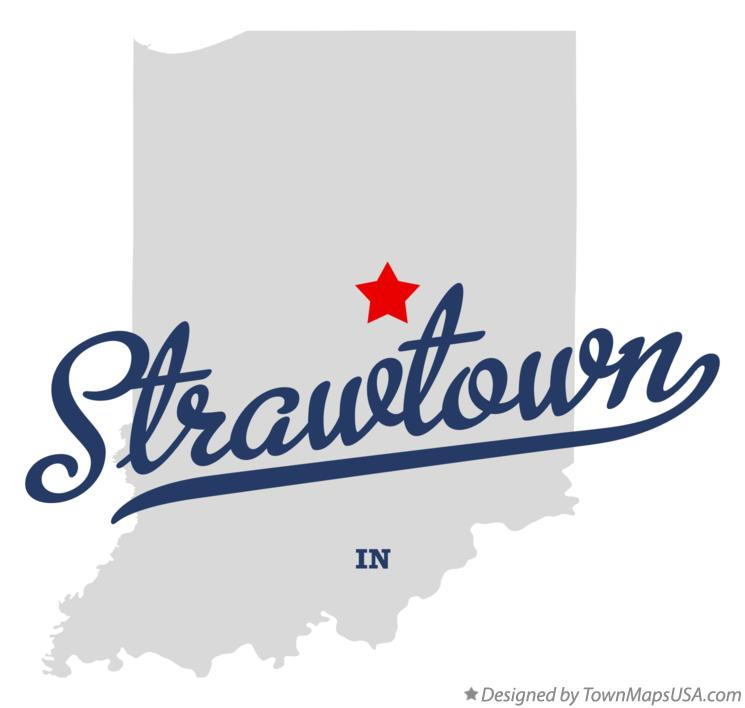Map of Strawtown Indiana IN