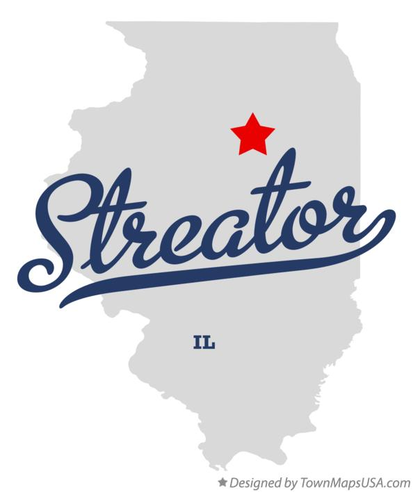 Map of Streator Illinois IL