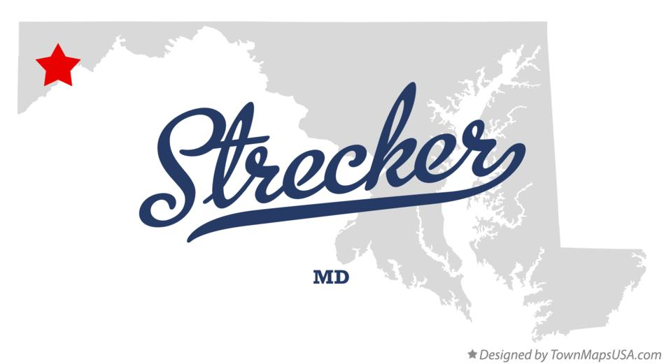 Map of Strecker Maryland MD