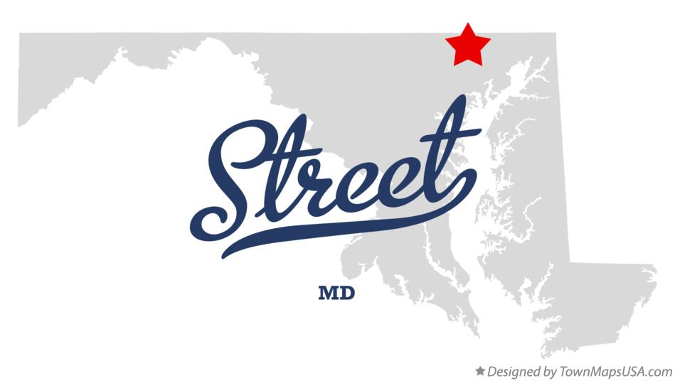 Map of Street Maryland MD