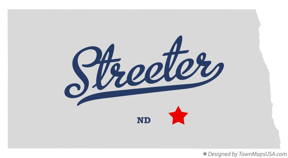 Map of Streeter North Dakota ND