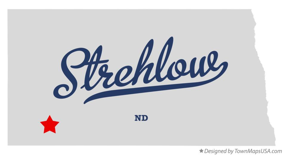 Map of Strehlow North Dakota ND